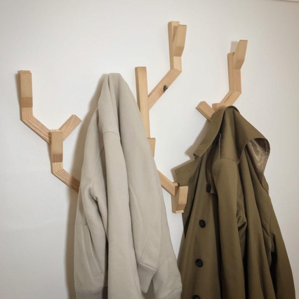 Portemanteau frêne manteaux